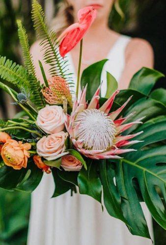 tropical wedding bouquets bouquet king protea sessionsbyannesalas