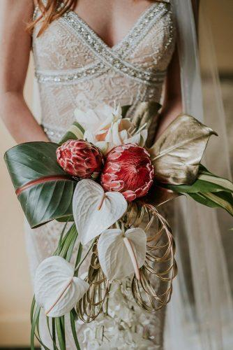 tropical wedding bouquets elegant bouquet Mary Maurizio of Quattro Studio