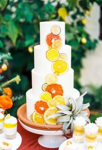 tropical wedding cake trends cake with orange Olivia Richards Photography