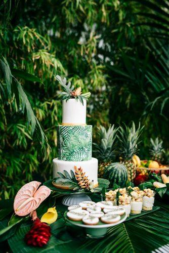 tropical wedding cake trends tropical wedding cake with leafs Chris Eberhardt