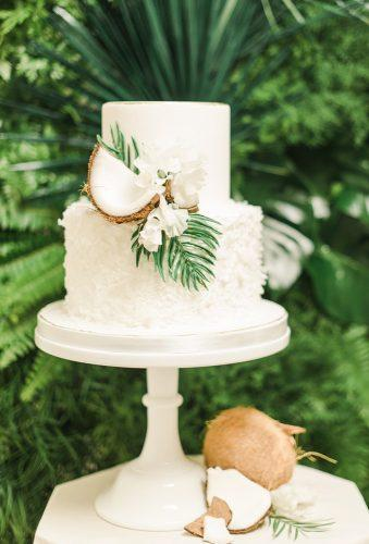 tropical wedding cake trends white fruit cake sanazphotography