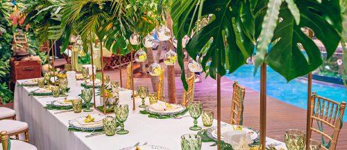 tropical wedding decor featured image
