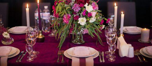velvet wedding decor featured image