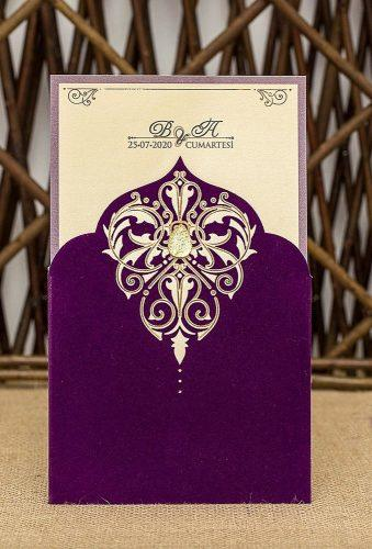 velvet wedding decor violet invitations MGinvitationAndGifts