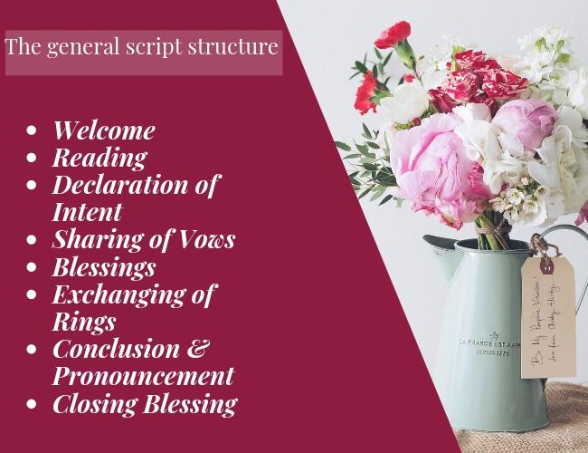 wedding ceremony script general wedding script structure