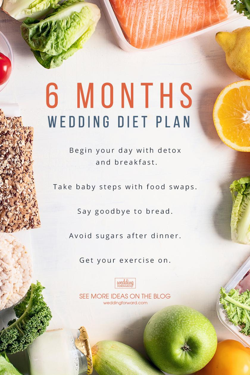 wedding diet plan 6 months before the wedding diet plan