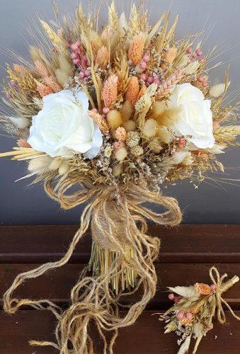 wedding dried flowers bouquets beautiful classic bouquet gelinbuketlerim