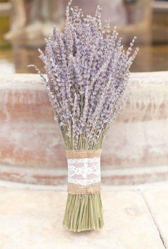 wedding dried flowers bouquets lace lavenender bouquet Marin Kristine Photography