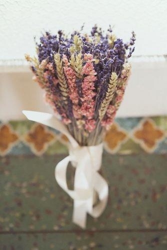 wedding dried flowers bouquets pink violet lavender bouquet EsmeDuckerPhotography