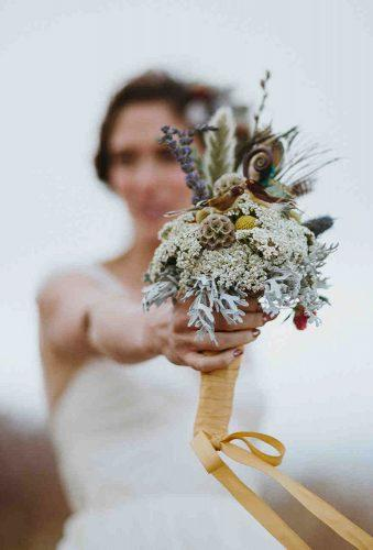 wedding dried flowers bouquets small bouquet with tape nirav patel