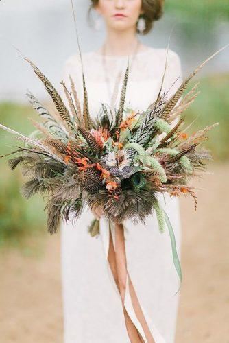 wedding dried flowers bouquets stylish boho bouquet flowersbysallyann