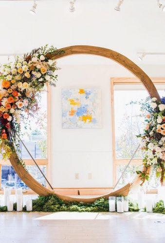 wedding floral moon gates simple arch christina kiffney weddings