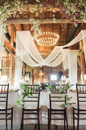 wedding hanging installations tulle in decor laurenfairphotography