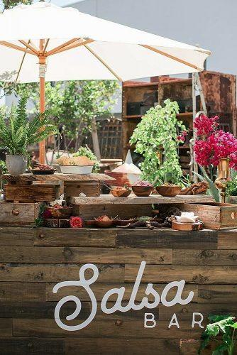 wedding menu ideas salsa bar decor