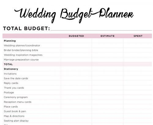 wedding planner book printable book