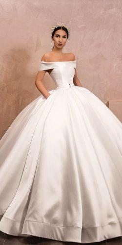 ball gown wedding dresses simple straight neckline of the shoulder liastubllaofficial
