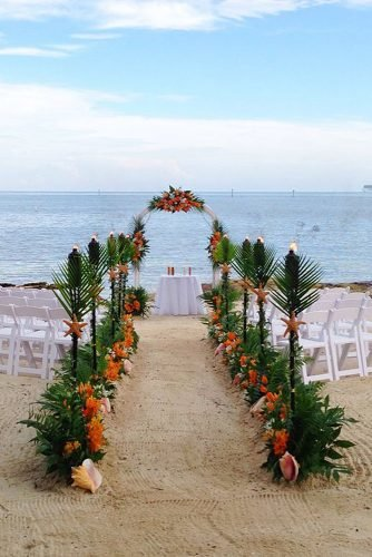 beach wedding decoration amazing tropical wedding aisle