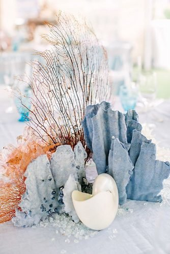 beach wedding decoration coral wedding centerpiece