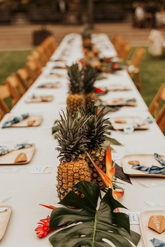 beach wedding decoration pineapple wedding centerpiece