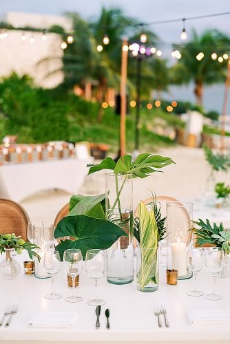 beach wedding decoration tropical wedding centerpieces