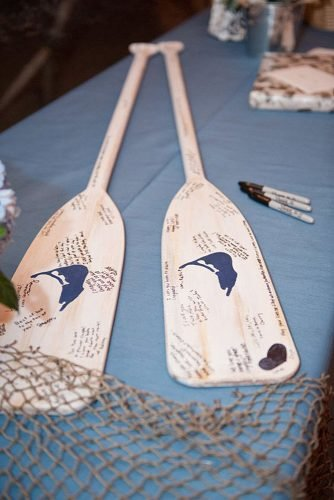 beach wedding decoration unique guest book