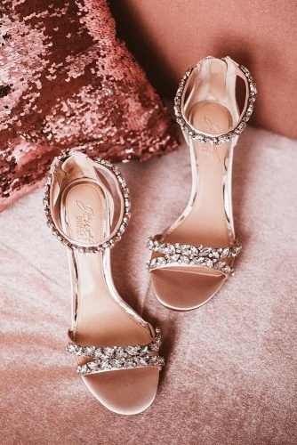 beach wedding shoes heels with rhinestones fataiperya