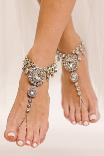 beach wedding shoes rhinestones sparkle for summer baresandalsllc