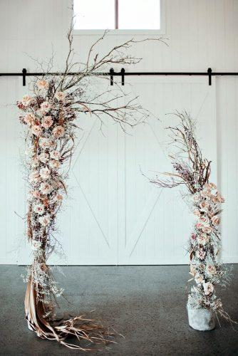 boho wedding trends boho floral arch Ivy Road Photography