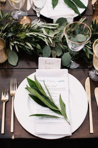 boho wedding trends greenery seating place Brightwood Photography
