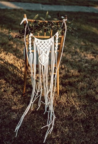 boho wedding trends macrame chair decor magda samodzewicz fotografia