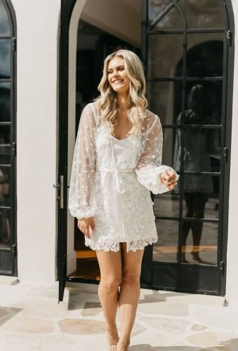 bridal robes charmong lace robe lerose_online