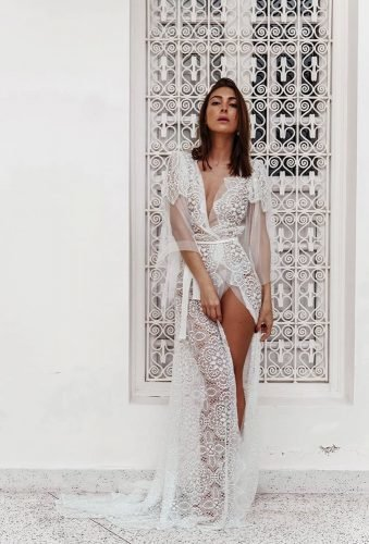 bridal robes lace long robe apilat lingerie