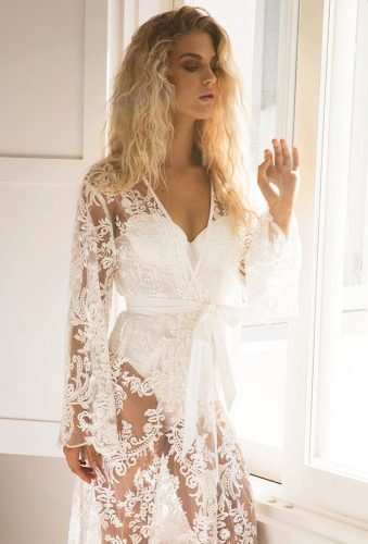 bridal robes lace robe homebodii