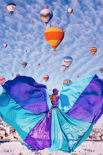 cappadocia wedding photos fantastic view dress