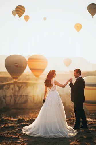 cappadocia wedding photos sunset view bride and groom