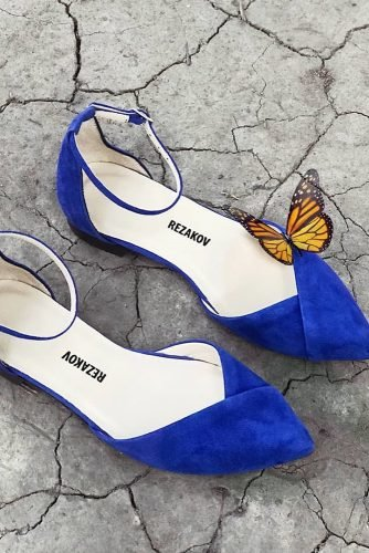 flat wedding shoes blue simple kamil rezakov