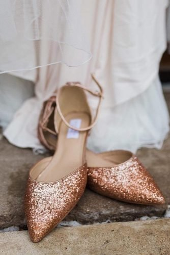 flat wedding shoes sequins rose gold shop kaileep