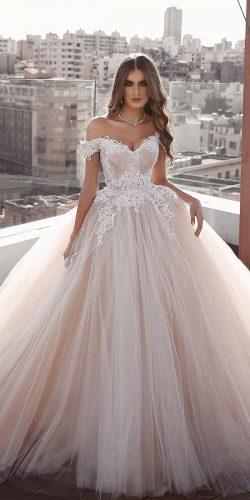 off the shoulder wedding dresses ball gown sweetheart neckline blush saidmhamadofficia