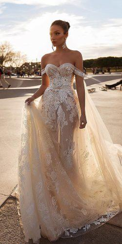off the shoulder wedding dresses sweetheart neckline champagne lace crystaldesign