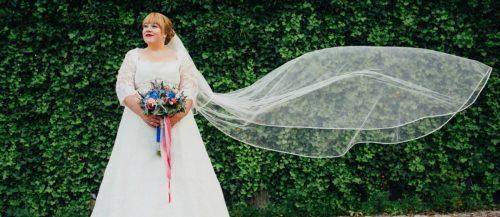 plus size wedding dresses with sleeves featured