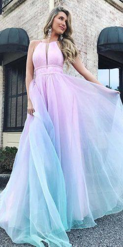 second wedding dress a line ombre sleveless sherrihill