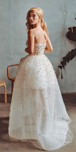 second wedding dress low back with pearls for reception reemacra