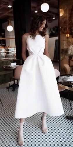 second wedding dress tea length simple ave dress