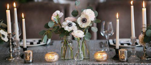 silver wedding decor ideas featured