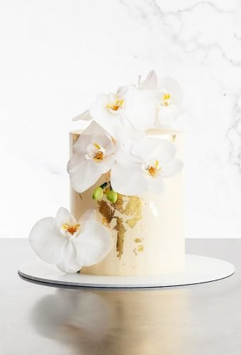 small wedding cakes cake with orchid cake ink