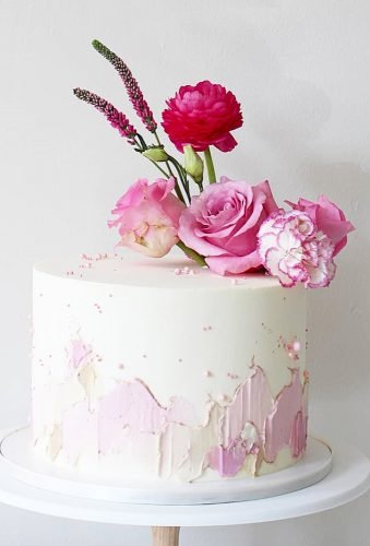 small wedding cakes tender cake pink flowers soulcakeshop