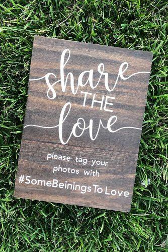 unique wedding hashtag decor