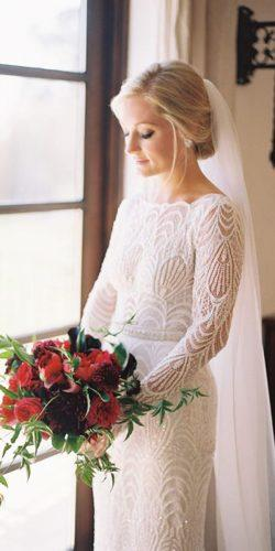 vintage inspired wedding dresses sheath with long sleeves lace lihi hod
