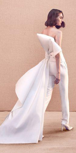 wedding dresses spring 2020 jumpsuit with bow simple oscar de la renta