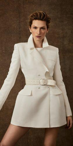 wedding dresses spring 2020 white blazers with long sleeves danielle frankel